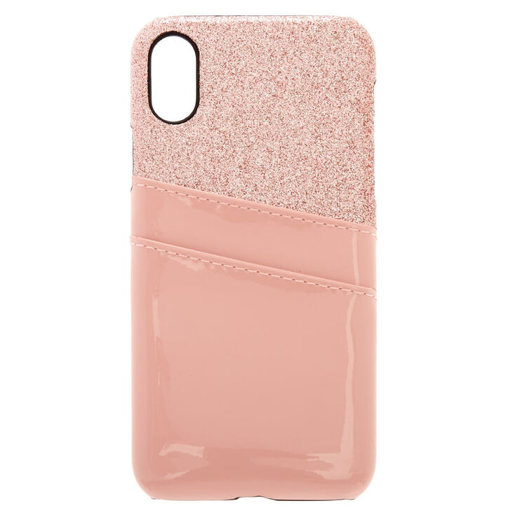 Blush Pink Wallet Phone Case - Fits iPhone X/XS,