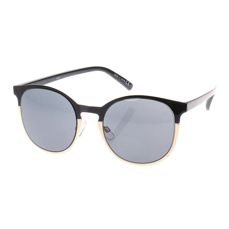 Round Black & Gold Sunglasses,