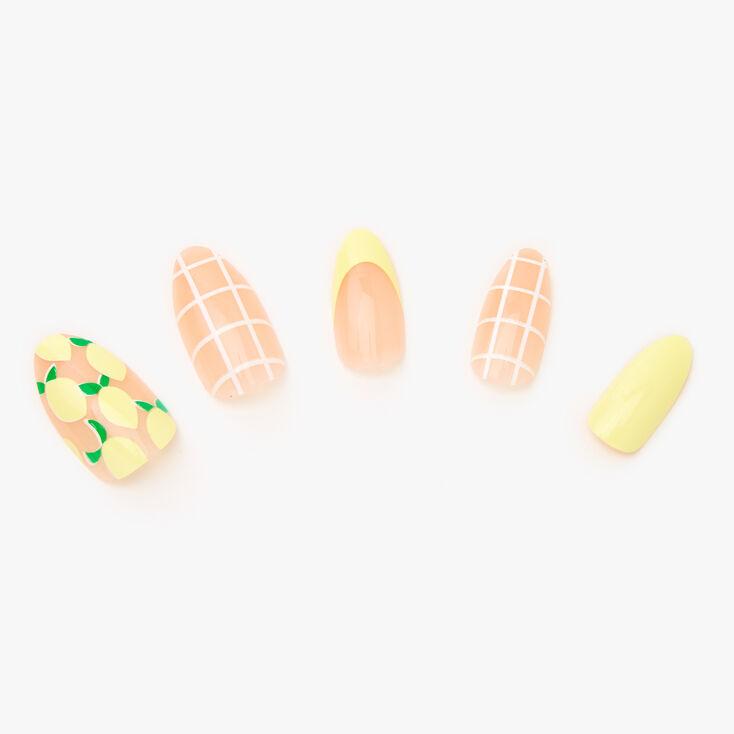 Lemon Drop Stiletto Faux Nails - 24 Pack,