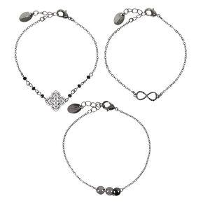 Hematite Chain Bracelets - 3 Pack,