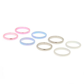 4 Pack Holographic Ring Duos,
