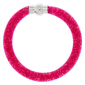 Mesh Bangle Bracelet - Fuschia,