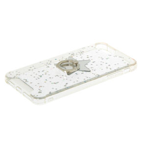 Iridescent Star Ring Holder Phone Case - Fits iPhone 6/7/8 Plus,