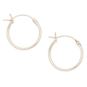 Sterling Silver 14MM Hinged Hoop Earrings,