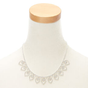 Silver Rhinestone Pointed Petal Jewelry Set - 2 Pack,