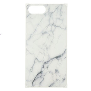 White Marble Square Phone Case - Fits iPhone 6/7/8 Plus,