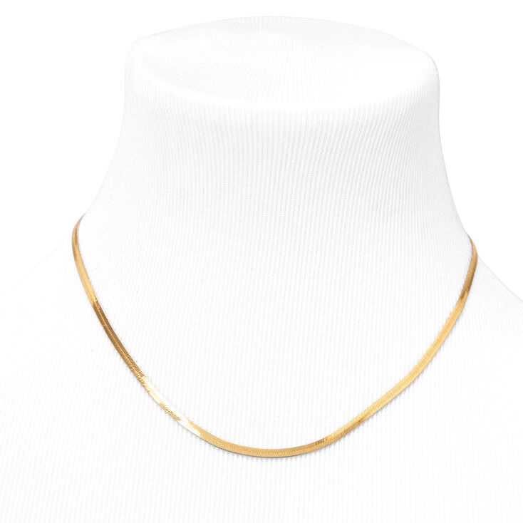 18kt Gold Plated Refined Snake Chain Necklace,