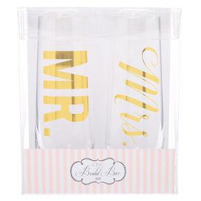 Mr. & Mrs. Champagne Glass Set - 2 Pack,