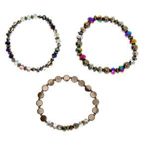 Hematite Bead Stretch Bracelets - 3 Pack,