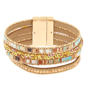 Gold Desert Layered Statement Bracelet,