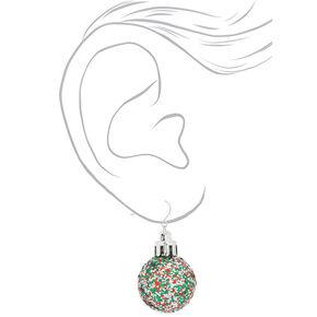 """2"""" Glitter Ornament Drop Earrings,"""