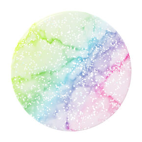 PopSockets Swappable PopGrip - Glitter Rainbow Marble,