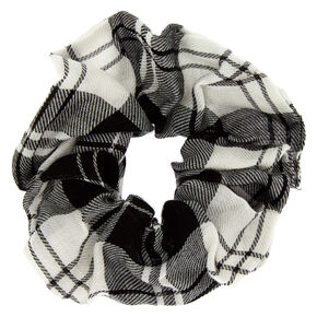 Plaid Hair Scrunchie - Black,