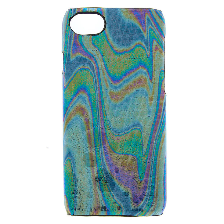 Oil Slick Snakeskin Phone Case - Fits iPhone 6/7/8 Plus,