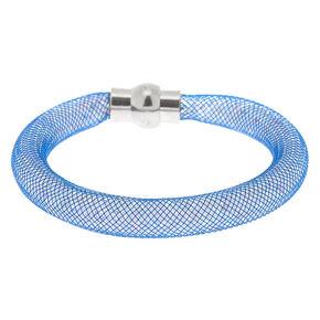 Mesh Bangle Bracelet - Denim Blue,