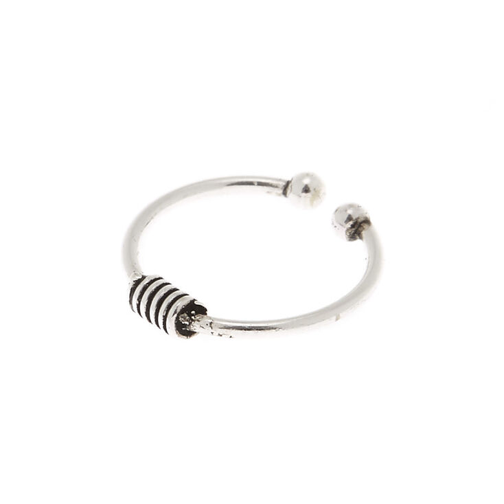 Sterling Silver Coil Faux Nose Ring,