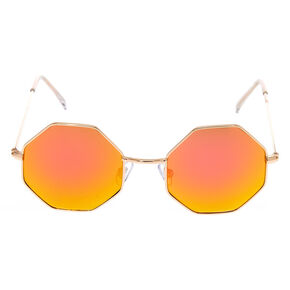 Pink Ombre Hexagon Sunglasses,