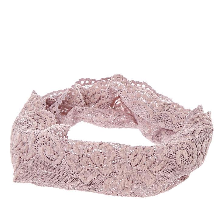 Wide Gray Lace Headwrap,