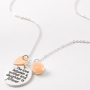 Mother Daughter Love Pendant Necklace,
