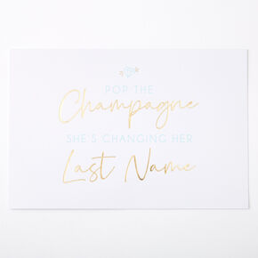 Pop The Champagne Blank Card,