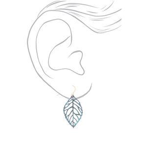 Patina Leaf Drop Earrings - 3 Pack,