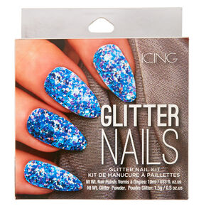 Mermaid Blue Crush Glitter Nail Kit,