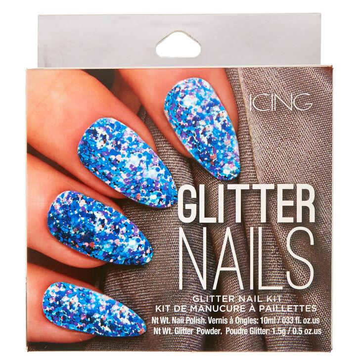 Mermaid Blue Crush Glitter Nail Kit,