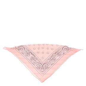 Paisley Bandana Headwrap - Light Pink,