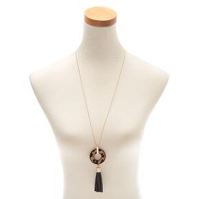 Leopard Tassel Long Pendant Necklace,