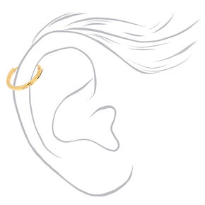 Gold Sterling Silver 10MM Cartilage Hoop Earring,
