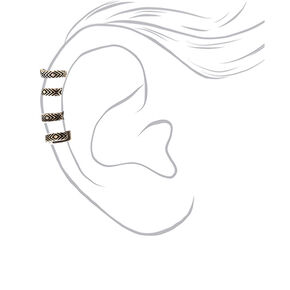 Silver Aztec Ear Cuff Earring,
