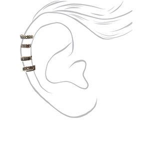 Silver Aztec Ear Cuff,