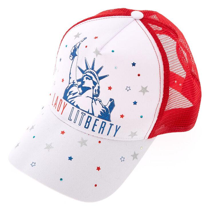 Lady LITberty Baseball Hat - White,