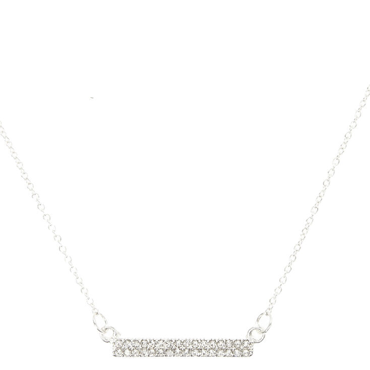 Crystal Bar Necklace,