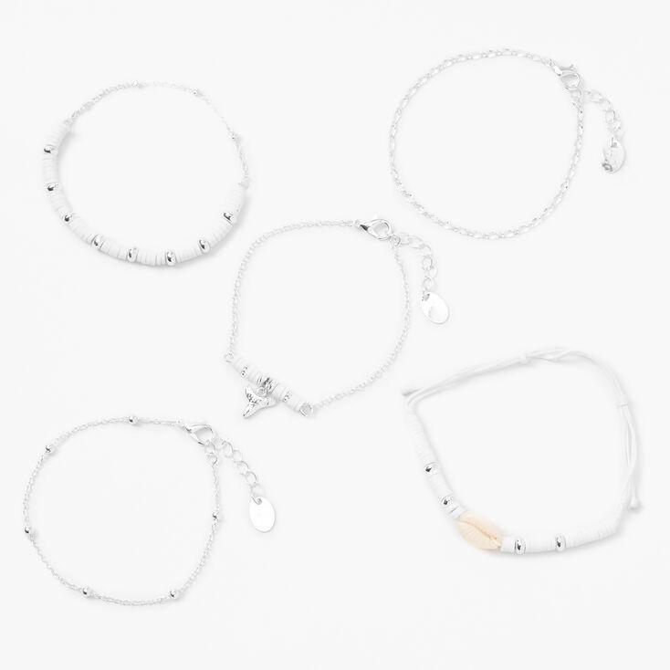 Beach Lover's Mixed Bracelet Set - 5 Pack,