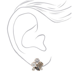 Rhinestone Cluster Stud Earrings,