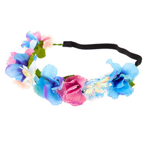 Mermaid Flower Crown Headwrap - Purple,