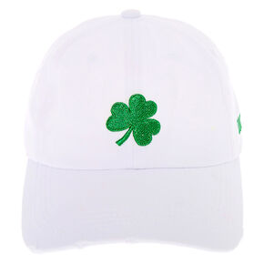 Shamrock Baseball Hat - White,