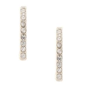 Faux Crystal Ear Suspender Earrings,