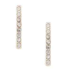 Faux Crystal Ear Suspender Earrings,