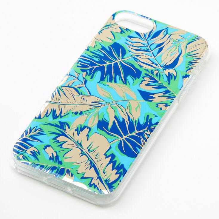 Navy Palm Print Phone Case - Fits iPhone 6/7/8/SE,