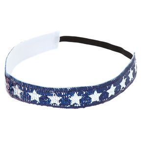 Reversible Sequins Stars & Stripes Headwrap,