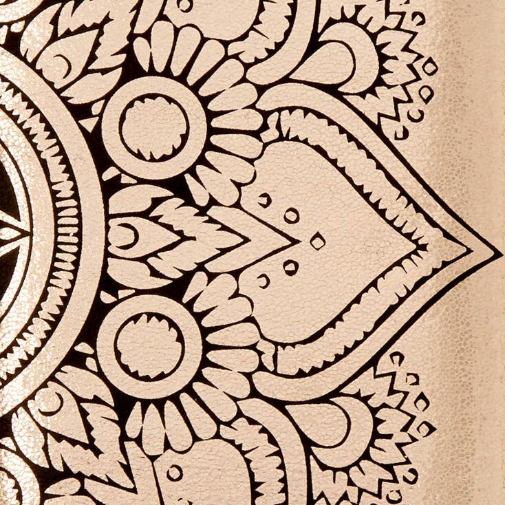 Rose Gold Mandala Wristlet,