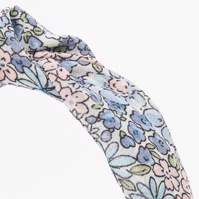Pastel Floral Knotted Headband - Mint,
