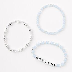 Breathe Beaded Stretch Bracelet Set - 3 Pack,