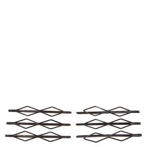 Black Double Diamond Bobby Pins,
