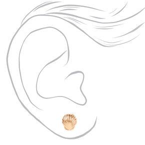 Mixed Metal Sealife Stud Earrings - 9 Pack,