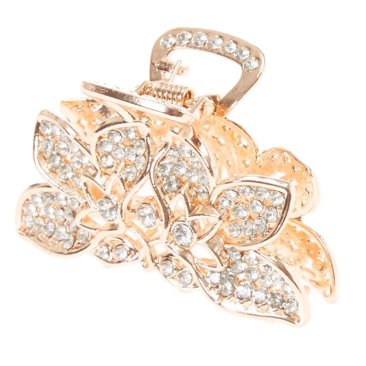 Gold Crystal Hair Claw,