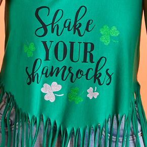 Shake Your Shamrocks Fringe Tank Top - Green,