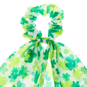 Shamrock Scarf Hair Scrunchie - Green,